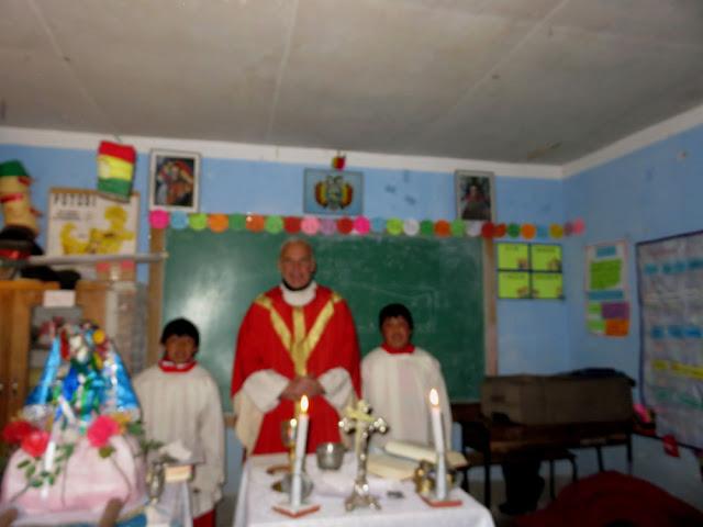 in San José de Buenos Aires feierten wir den Hl. Santiago bei Kerzenbeleuchtung