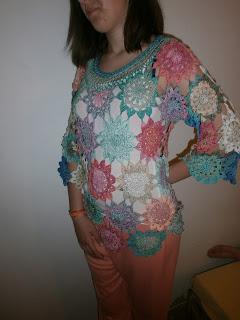 7b881fdabd Megrendelésre készült ez a szép nyári pulóver is. ALIZE bamboo fonalból.