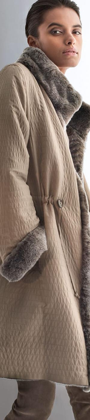 Madeleine Taupe Reversible Jacket