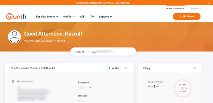 Login page untuk tebus rewards points rabet tunai