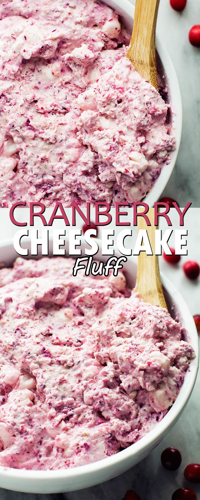 CRANBERRY CHEESECAKE FLUFF
