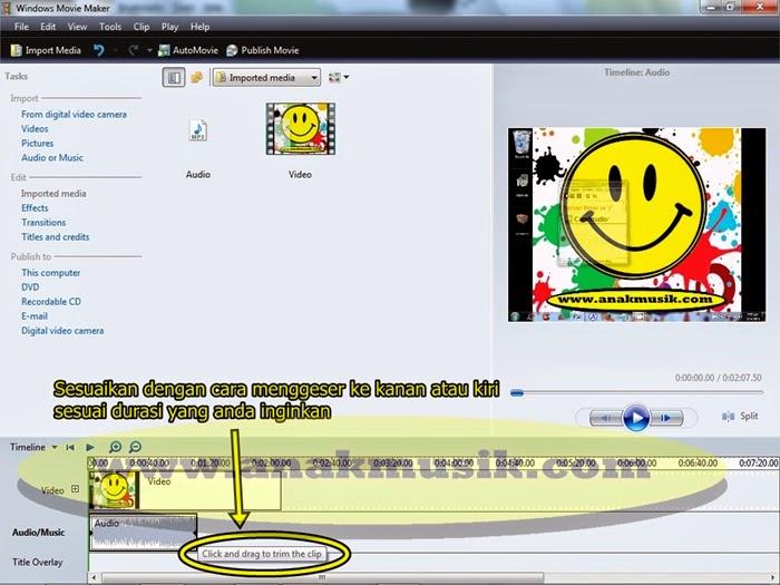 3. Cara Mudah Menggabungkan Lagu dan Video di Movie Maker