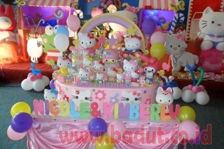 Ulang Tahun Tema Hello Kitty Birthday Party Organizer