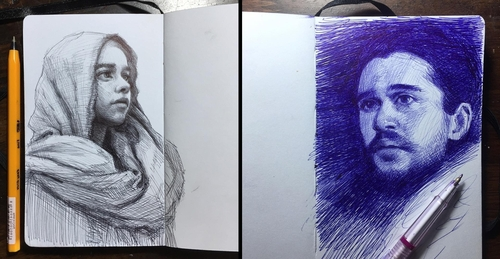 00-Arthur-Gains-Moleskine-Sketches-of-Celebrities-and-other-Portraits-www-designstack-co