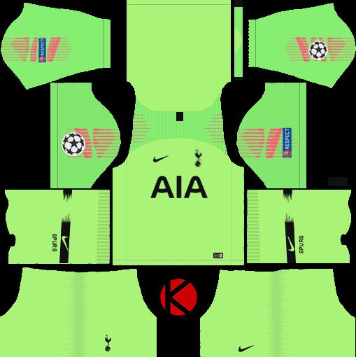 512f7462c70 Tottenham Hotspur 2018/19 Kit - Dream League Soccer Kits - Kuchalana