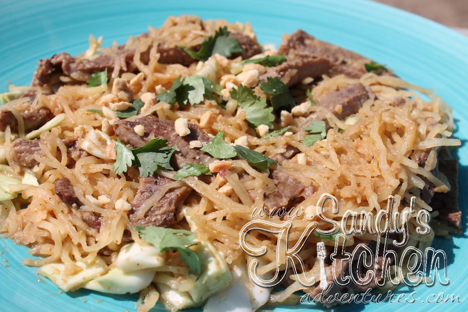 Beef Pad Thai Spaghetti Squash Sandy Kitchen