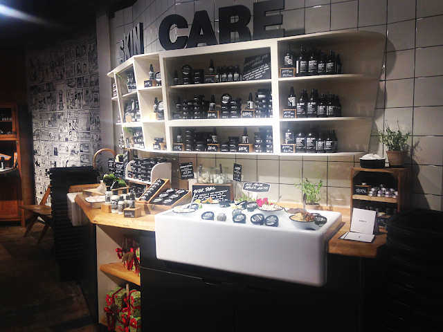 Lush Oxford Street skin care