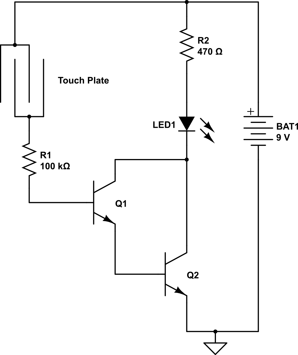 Touch sensitive diode ~ ELECTRONICS PROJECTS