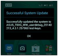 Cara Mudah Upgrade Asus Zenfone 5 T00F & T00J dari Kitkat ke Lollipop