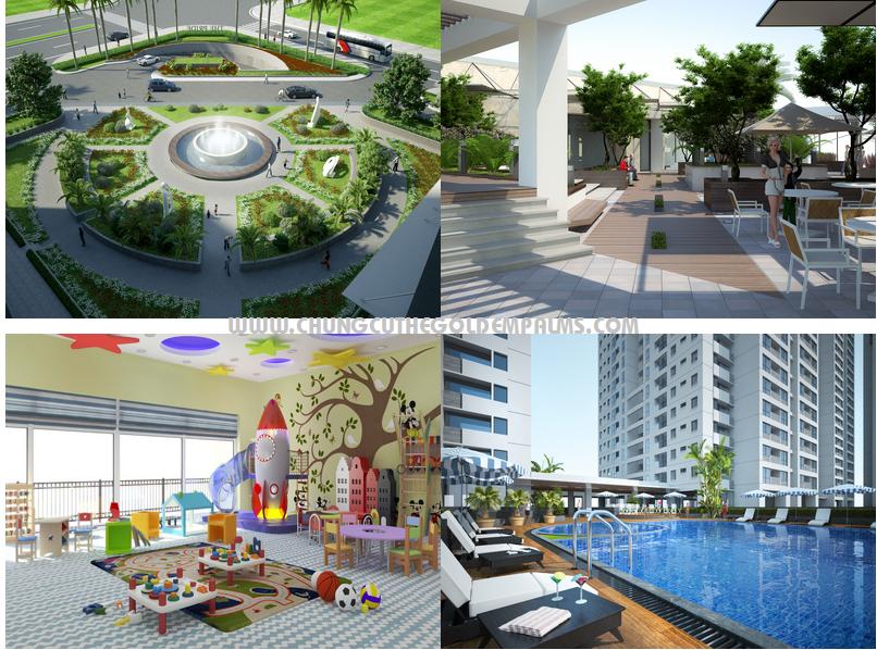 Bể bơi và khu vui chơi của cư dân tại dự án Panorama-Hoàng Mai