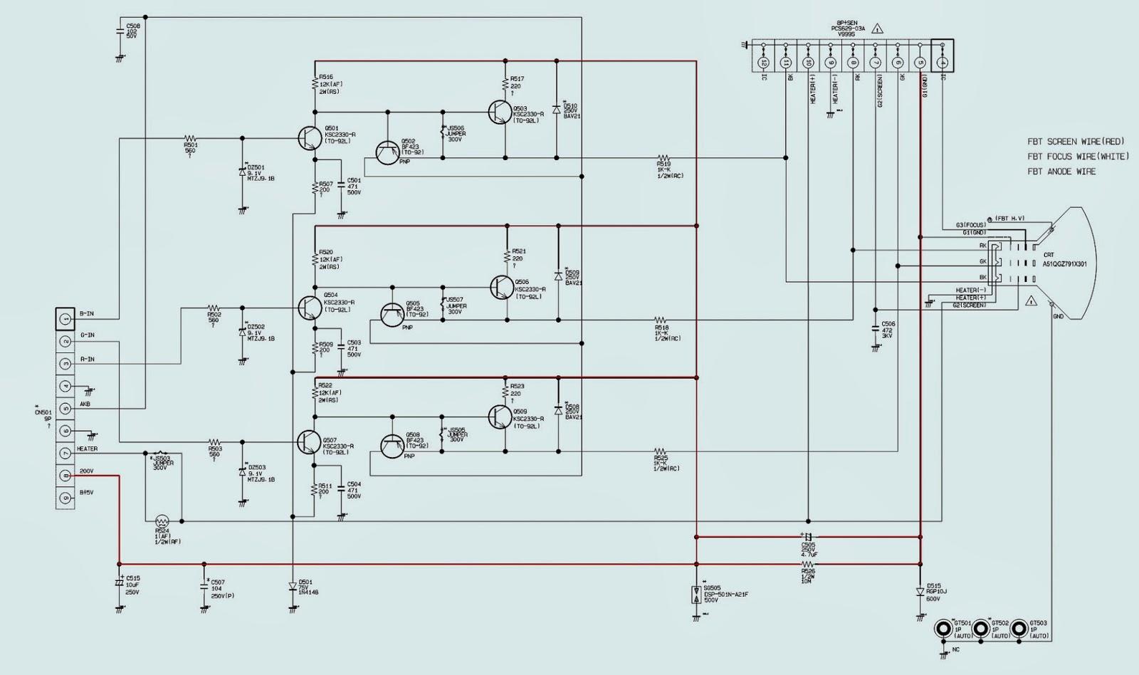 SAMSING SLIM CRT TV  CL14B501KJMXZD  POWER SUPPLY [SMPS