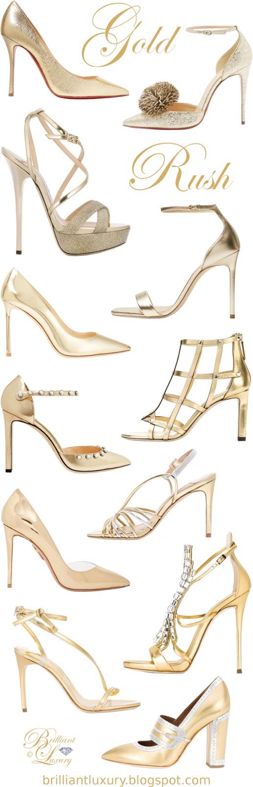 Brilliant Luxury Gold Rush Classy High Heels For