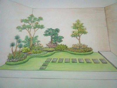 Sketsa-taman-minimalis-lukisan-tangan