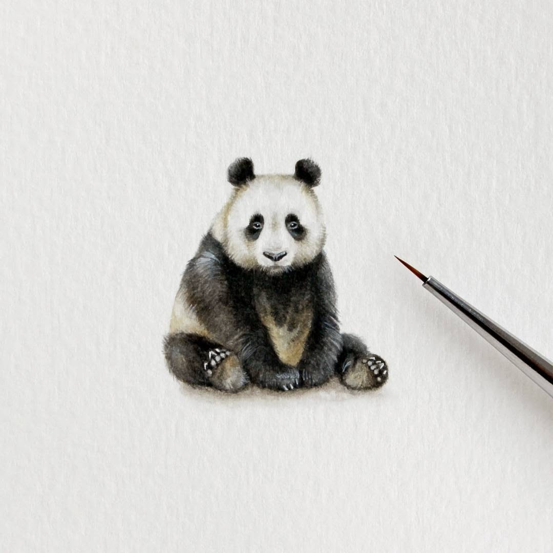 11-Giant-Panda-Julia-Las-Miniature-3-cm-Paintings-of-Wild-Animals-www-designstack-co