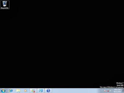 tutorial mengatasi desktop windows 7 hitam akibat gagal activation