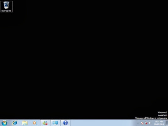 tutorial mengatasi desktop windows 7 hitam akibat gagal activation
