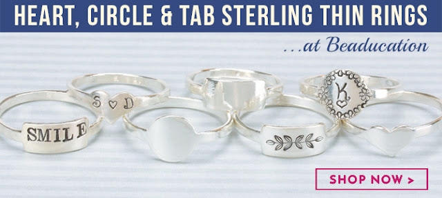 How to stamp on a sterling silver tab ring by Amy Latta of One Artsy Mama