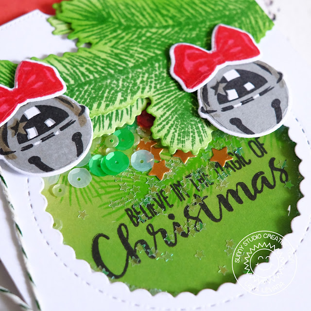 Sunny Studio Stamps: Holiday Style Jingle Bell Magic of Christmas Card by Lexa Levana.