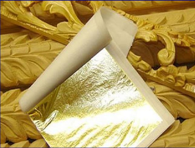 Applicazione Della Foglia In Oro Su Quadri Cornici E Mobili