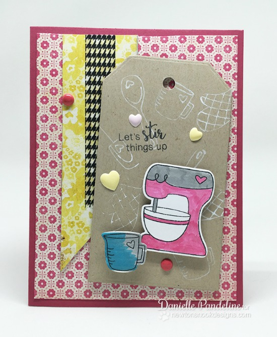 Mixer Baking Card by Danielle Pandeline | Made from Scratch Stamp Set by Newton's Nook Designs #newtonsnook