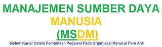 Manajemen Sumber Daya Manusia : Sistem Karier Dalam Pembinaan Pegawai Pada Organisasi Menurut Para Ahli