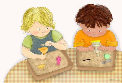 gioco con la sabbia