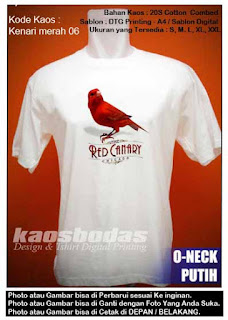 Kaos Kenari merah 06