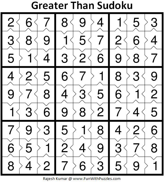 Inequality Sudoku Puzzles (Fun With Sudoku #370, #371)-Fun