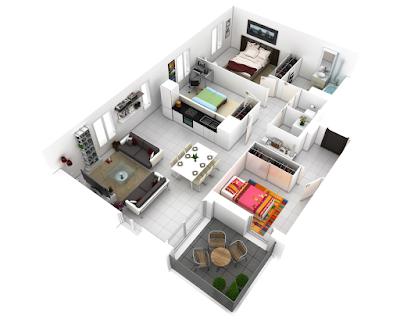 Saat ini banyak dibangun perumahan minimalis yang menjadi incaran keluarga gres 65 Desain Interior 3D Rumah Minimalis Terbaru 2017 - 2018
