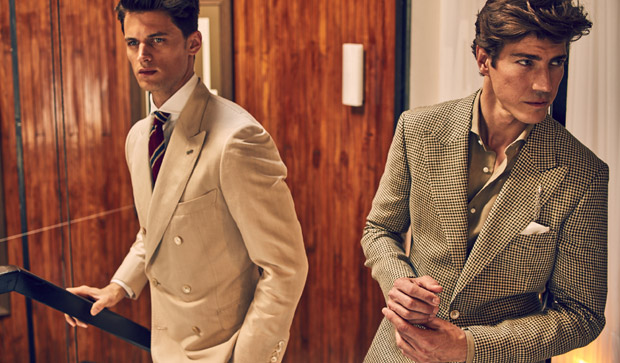 Massimo Dutti, Gonzalo Machado, Oriol Elcacho, Garrett Neff, Personal Tailoring, spring 2016, lookbook, Suits and Shirts, tailored, Made in Spain,