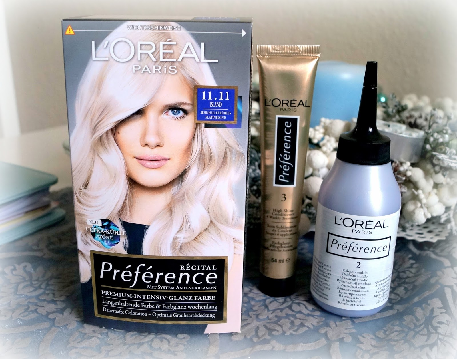 Haarfarbe loreal platinblond