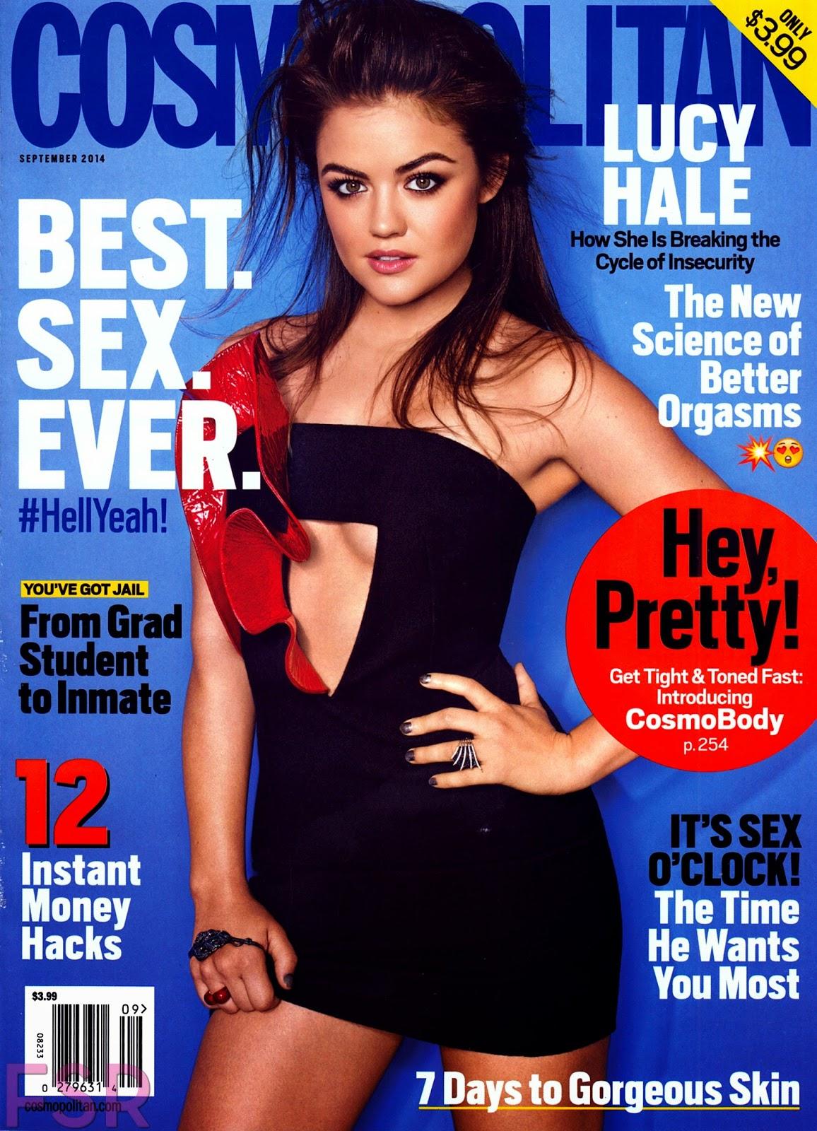 Cross Stitch, Knitting & Magazines: Lucy Hale - Cosmopolitan magazine ...
