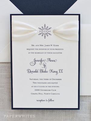 Invito di nozze elegante in blu