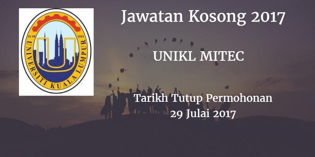 Jawatan Kosong UNIKL MITEC 29 Julai 2017