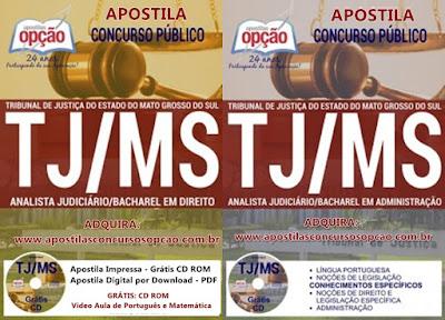 Apostila para concurso Tribunal de Justiça de MS Analista Judiciário do TJMS 2017.