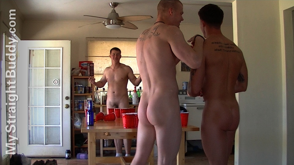 real naked beer pong