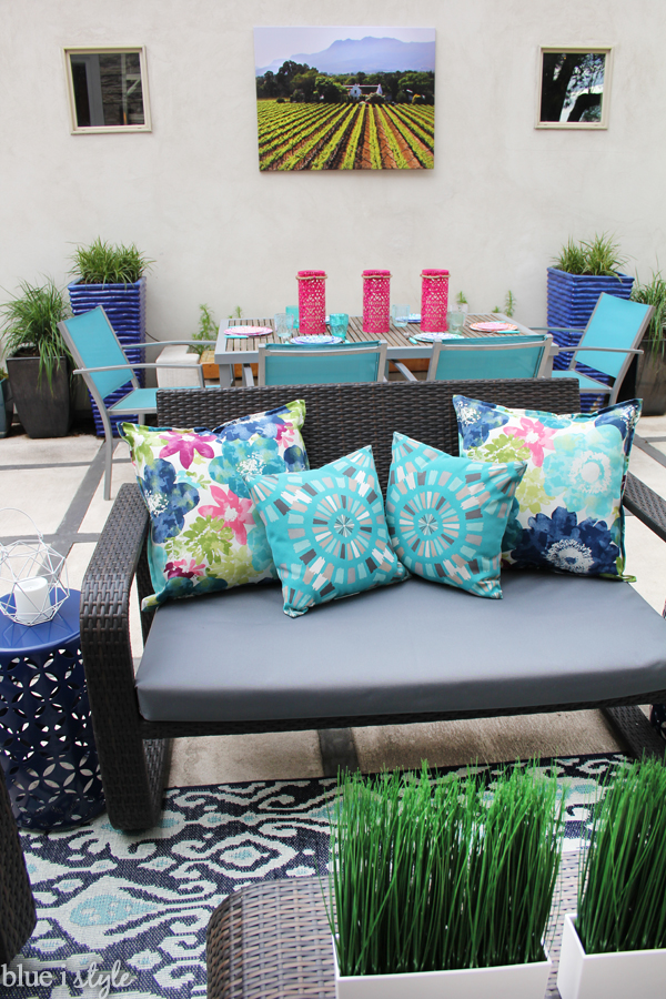 Colorful patio decorating