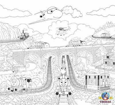 Easy Thomas the train and friends coloring steam railroad pictures to color printables for teenagers