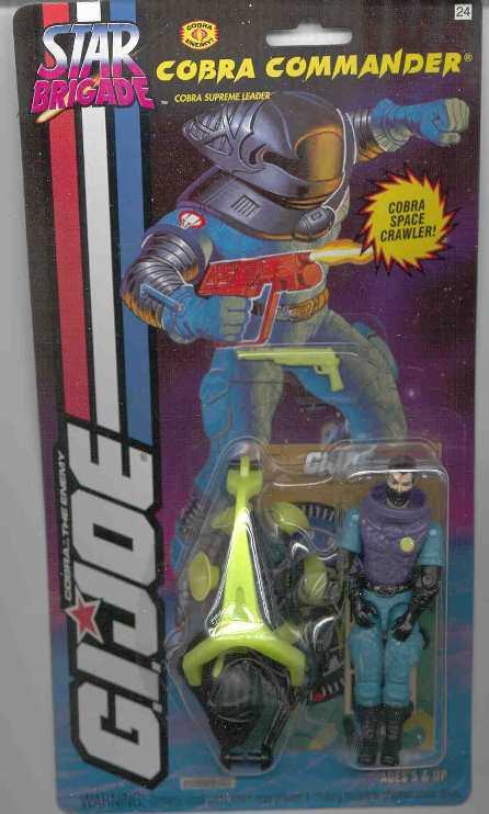 1994 Star Brigade Cobra Commander, Carded, MOC