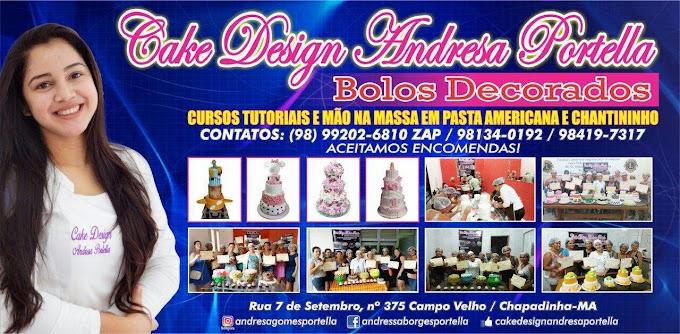 OPORTUNIDADE: Cake Andresa Portella realizará mais uma vez o Curso de Bolos Decorados