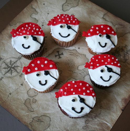 Birthday Cake Pirate Cupcakes