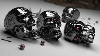 3D robot head horror images