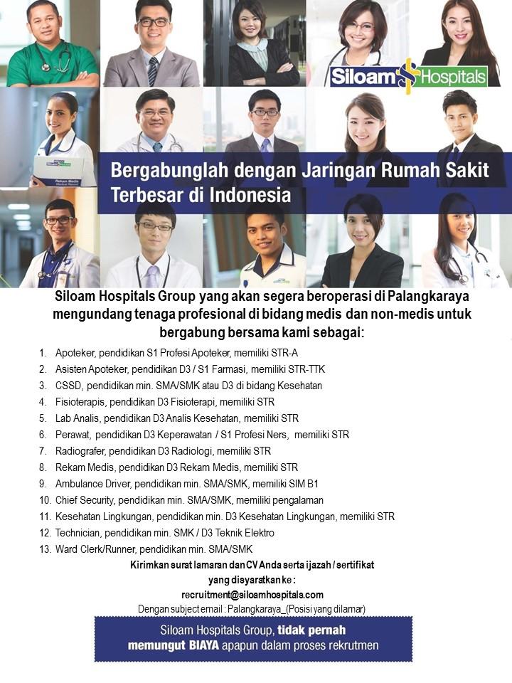 Lowongan Kerja Siloam Hospitals Group Palangka Raya Lowongan