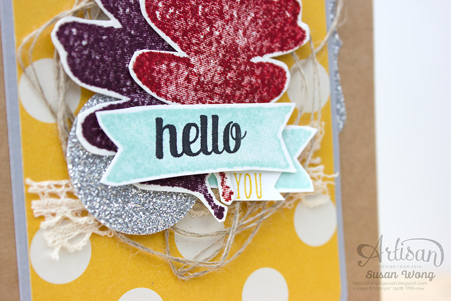 For All Things 'Hello You' card detail ~ Susan Wong