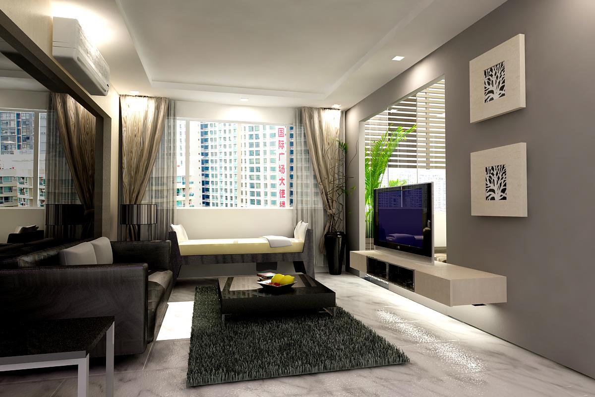 Dekorasi Ruang Tamu Kecil Dan Moden Small Living Room Decor Dekorumah Com