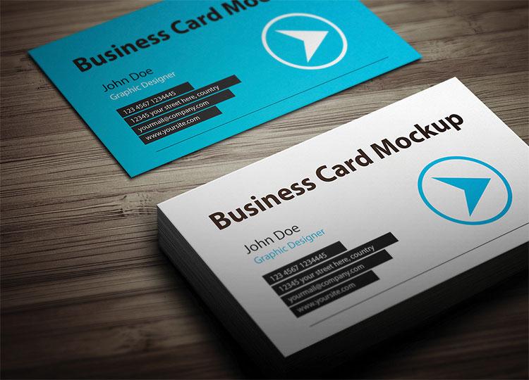 Business Card Mockups Free PSD