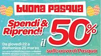 Logo Carrefour : Spendi&Riprendi il 50% sulle Uova di Pasqua