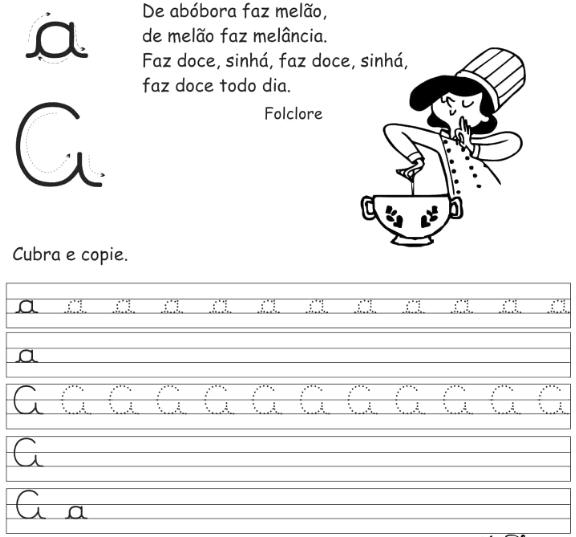 Semear Educacao Caligrafia Atividades Prontas Alfabeto