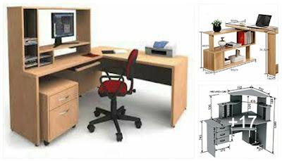 planos para muebles y escritorios de oficina