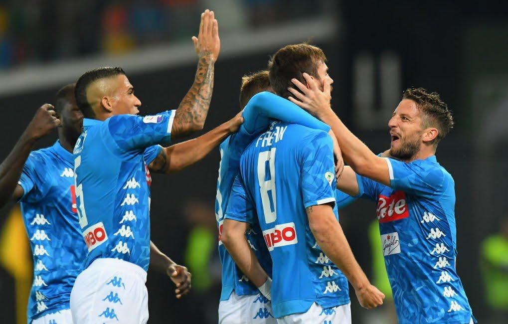 Il Napoli vince 3-0 in trasferta a Udine: Juventus a -4 in classifica Serie A.